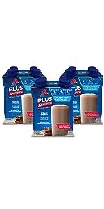 chocolate shake protein protein fiber gluten free keto friendly atkins low carb