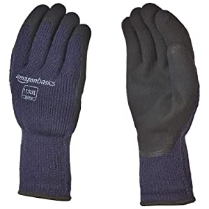 AmazonBasics Foam Latex Coated Acrylic Liner Winter Gloves with Touch Screen Capability - Size 10 / XL