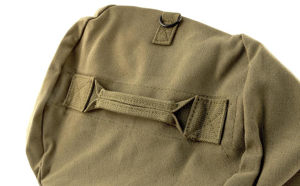 heavy duty cotton canvas duffle bag