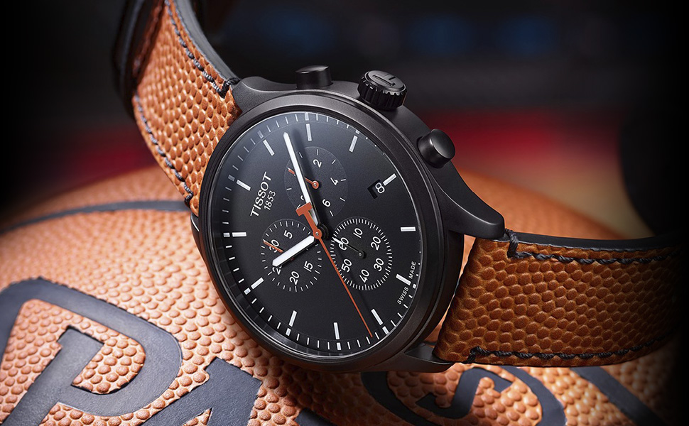 tissot, swiss, watches, leather, swiss made, basketball, chronograph
