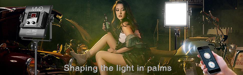 GVM 560 LED Video Light, Dimmable Bi-Color, 3 Packs Photography Lighting