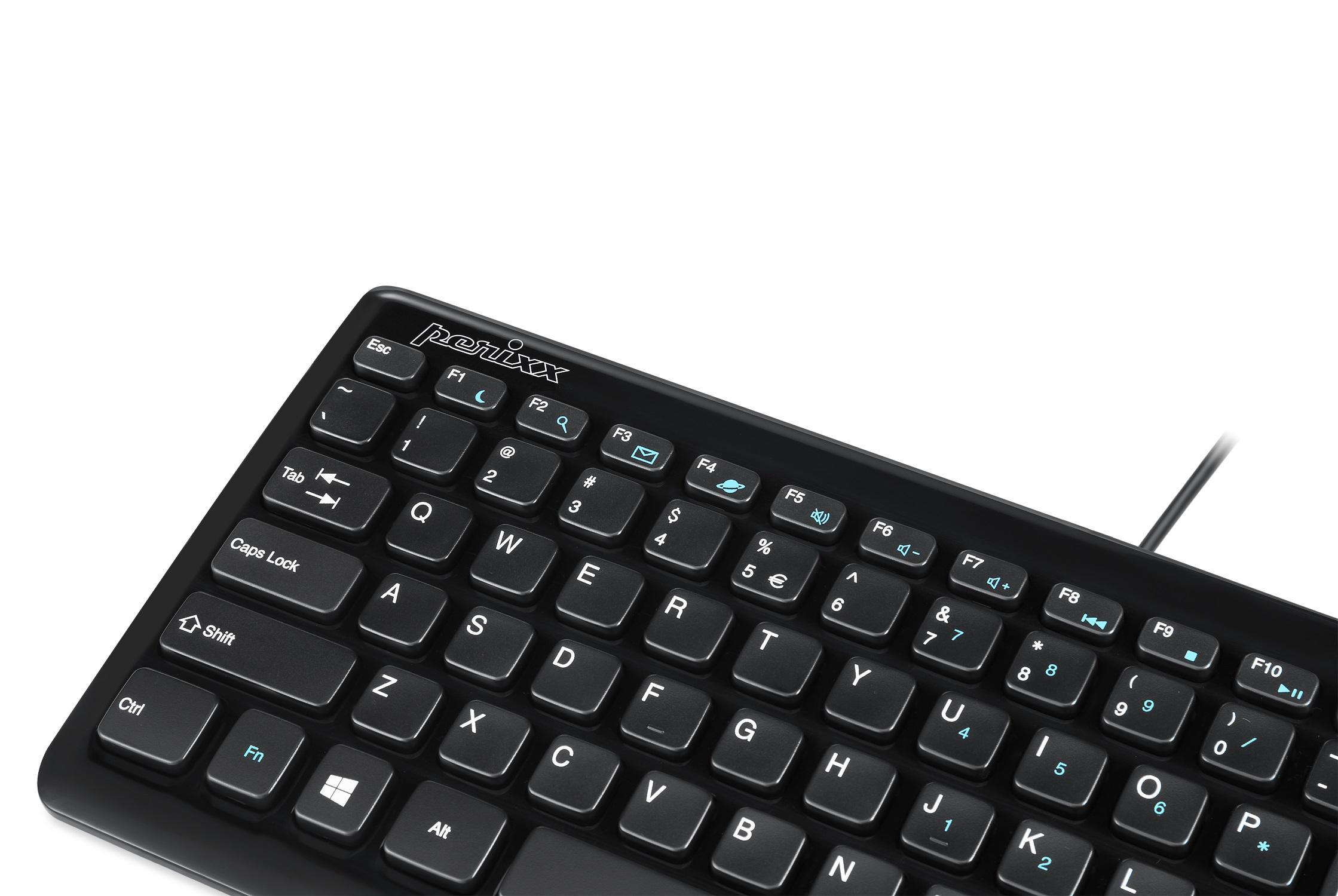 perixx periboard 407b mini keyboard wired usb interface piano black 320x141x25mm. Black Bedroom Furniture Sets. Home Design Ideas