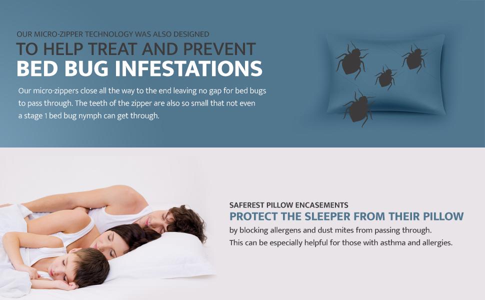mattress encasements, pillow encasements
