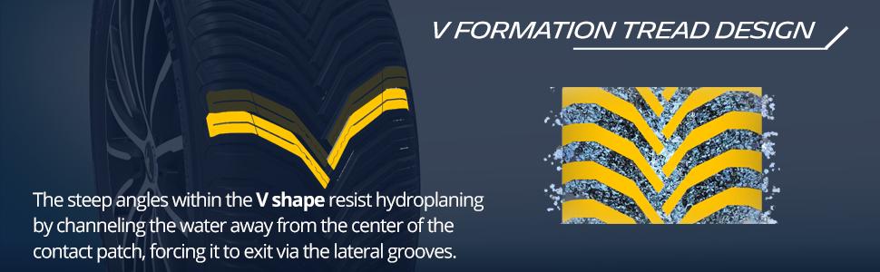 V Formation Tread  Design