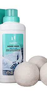 Down Wash Kit with 3 Wool Dryer Balls