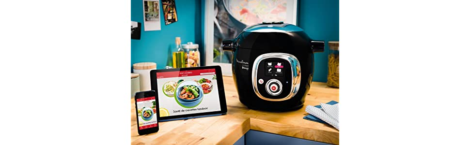 robot cuiseur; cookeo moulinex; cookeo connect; cookeo connect noir; robot multifonction cuiseur;