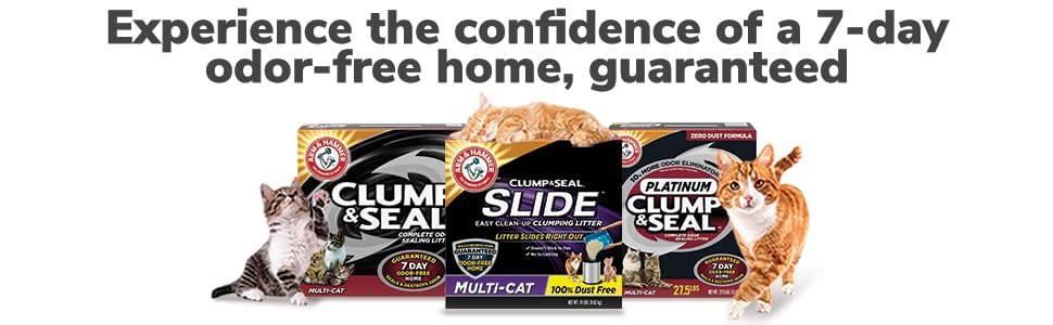 Experience the confidence of a 7-day odor-free home, gauranteed