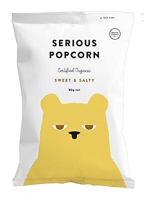 Serious popcorn, popcorn, snacks, sweet & salty, sharing size, organic, healthy snacks, new zealand