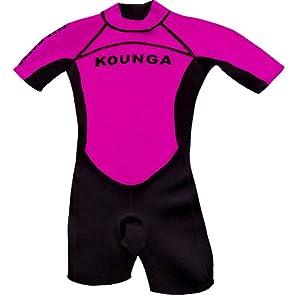 Kounga Deep Water Shorty Traje de Surf, Unisex niños