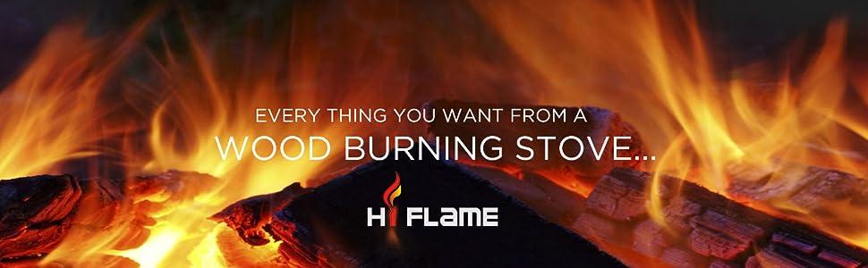 Hi Flame Ff 905 Shetland Wood Stove Black Amazon Ca
