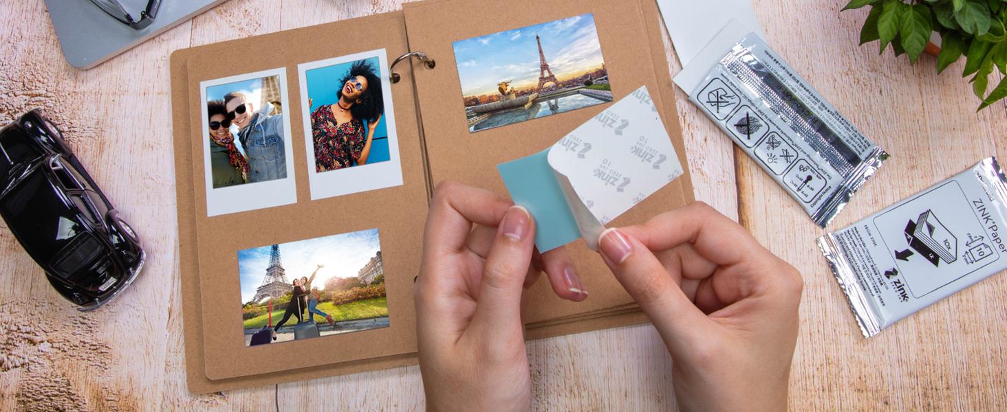 2x3 Zink photo paper sticky back