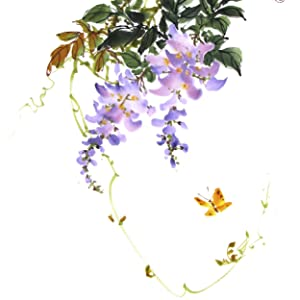 Add branches, vines, trailing tendrils in graceful curving lines paint, young leaves in light orange