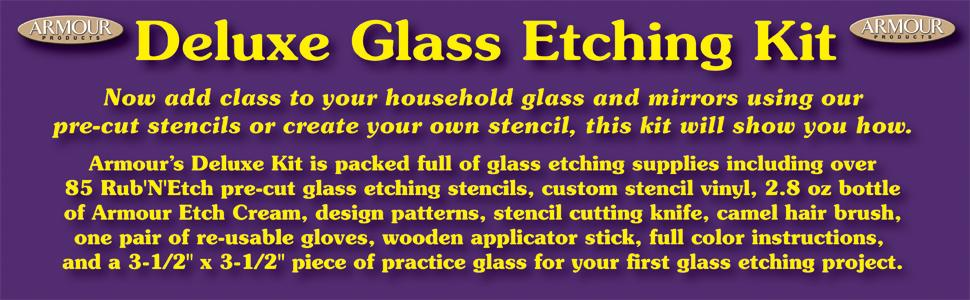 Amazon Armour Etch 10 0101 Glass Etching Deluxe Kit Arts