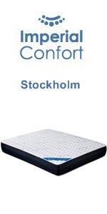 Imperial Confort Stockholm 21 Viscoelástico, Poliéster, Blanco y Gris, 90x190: Amazon.es: Hogar