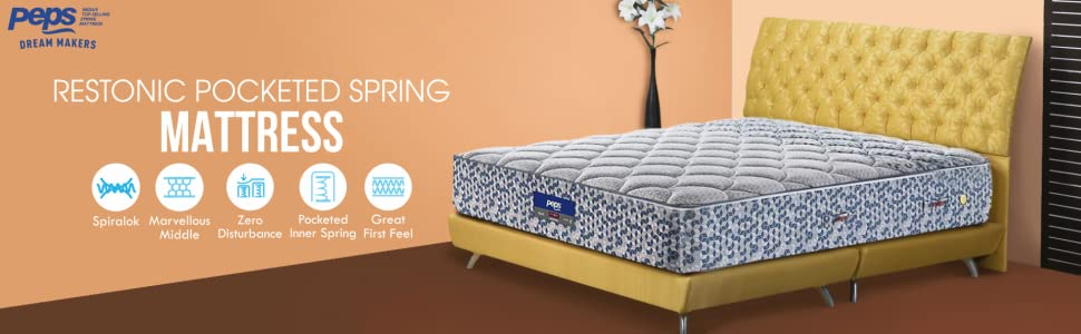 Peps Restonic 6-inch Single Size Spring Mattress