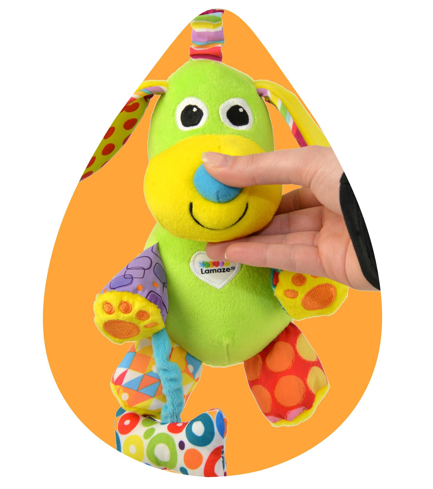 "Lamaze Baby Spielzeug ""Lustiger Soundhund"" Clip & Go"