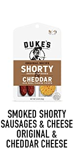 Duke's Smoked Shorty Sausage and Cheese Smoked Meat Snacks