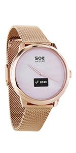 hybrid damenuhr smartwatch android mit whatsapp smart watch uhr damen smartwatch gold