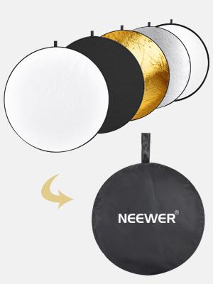 Silver//Translucent//Gold//White//Black Folding Photo Studio Reflector Board Durable JINGZ 110cm 5 in 1