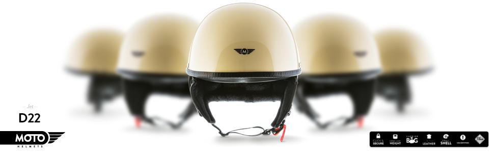 moto d22 creme gelb jet helm halbschalen helm. Black Bedroom Furniture Sets. Home Design Ideas