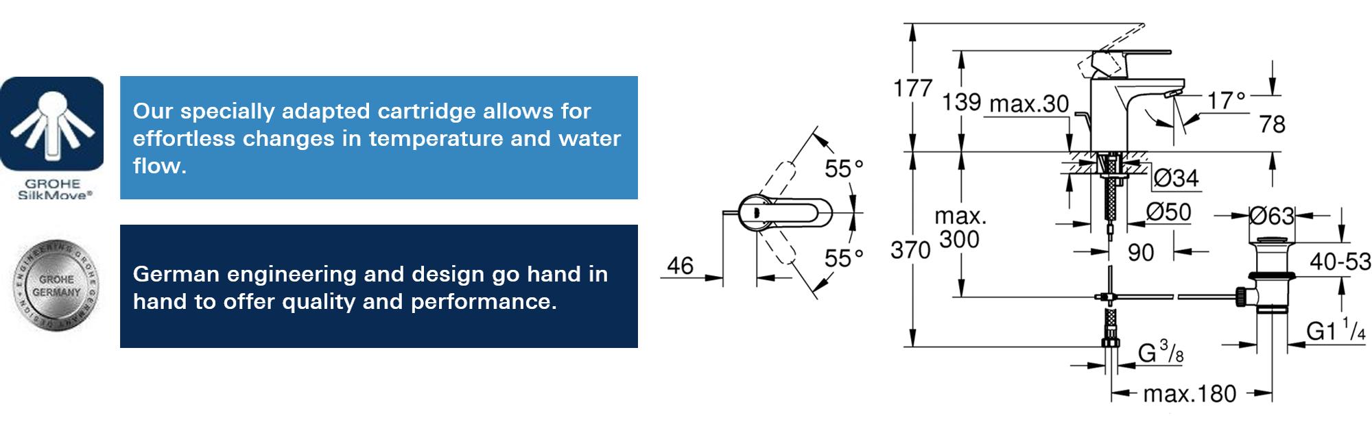 GROHE 23495000 | Get Basin Mixer Tap: Amazon.co.uk: DIY & Tools