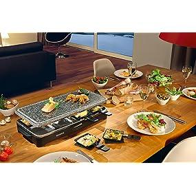 SEVERIN, RG 2343, raclette, plancha, asar, pescado, verdura, carne