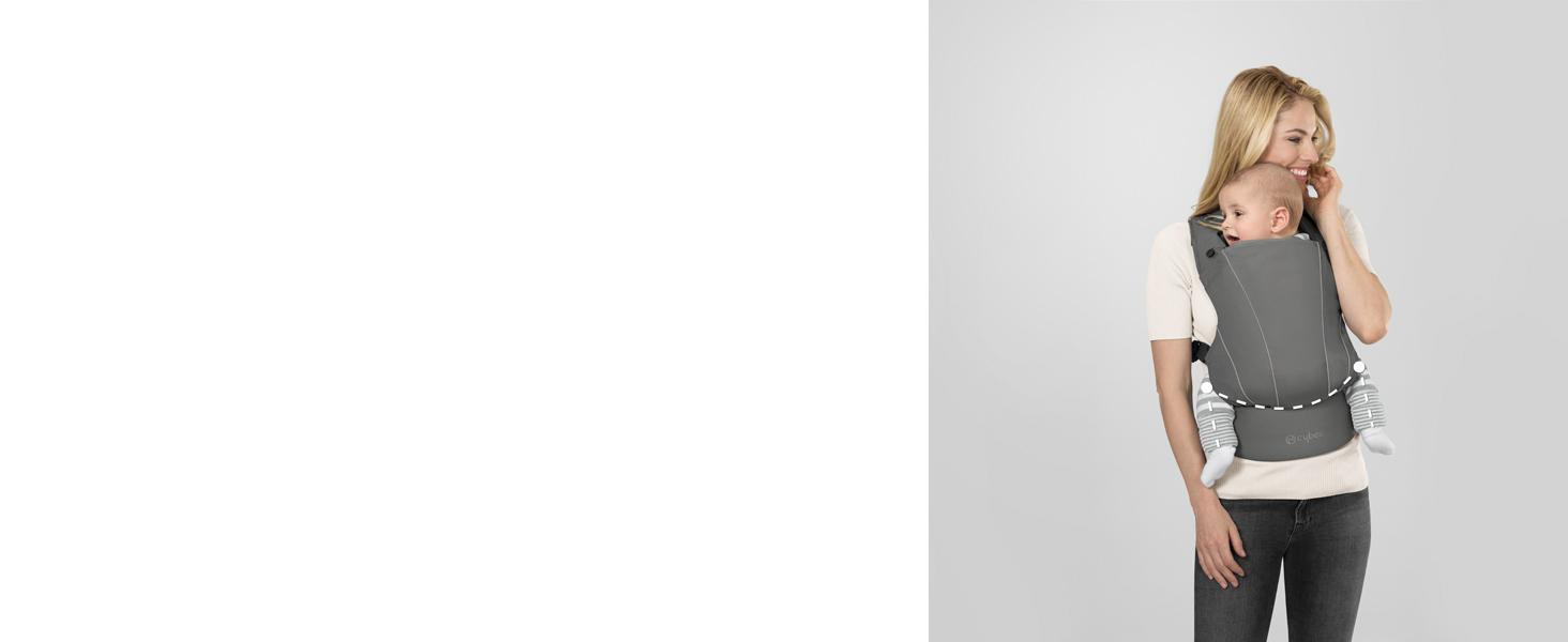 100/% Cotone ca. 3,5 /– 15 kg Dalla nascita fino a ca 2 anni Cashmere Beige CYBEX Gold Marsupio MAIRA.click