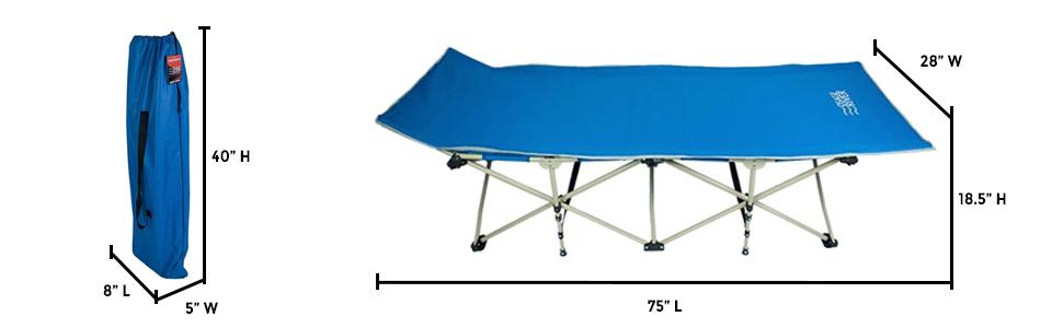 Osage River Folding Camp Cot Dimensions
