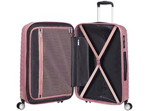 American Tourister Jetglam - Spinner L Espandibile Valigia, 77 cm, 109 litri, Rosa (Metallic Pink)