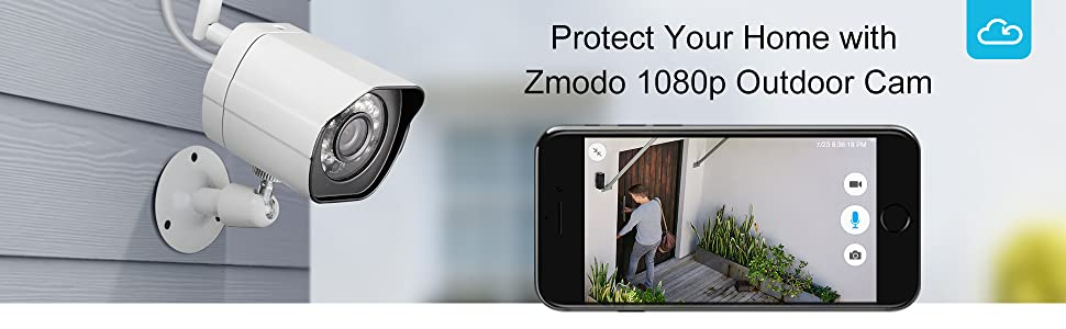 zmodo 1080p outdoor wireless camera