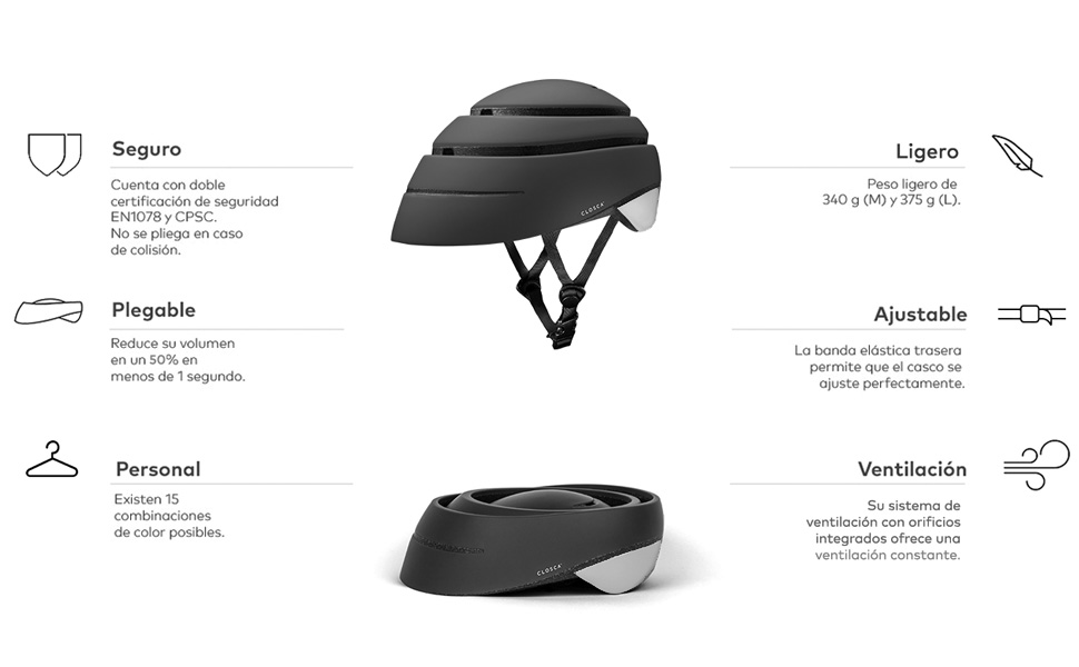Closca Casco Helmet Loop/Casco de Bicicleta y Casco de Patinete ...