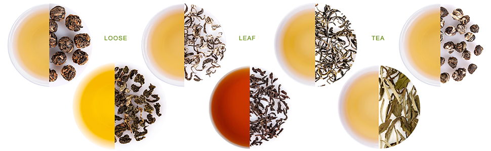 LeCharm Black Jasmine Pearl Tea Loose Leaf Preium Quality Hot Flower Tea 135g/4.8oz