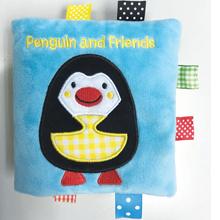 Penguin and Friends, penguin book, penguin cloth book, cloth book, penguin book