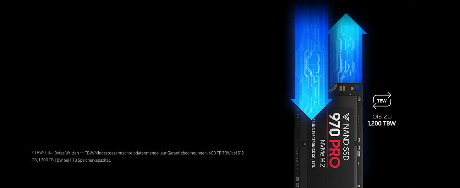 SAMSUNG MZ-V7P1T0BW 970 PRO 1 TB NVMe M.2 Interne SSD