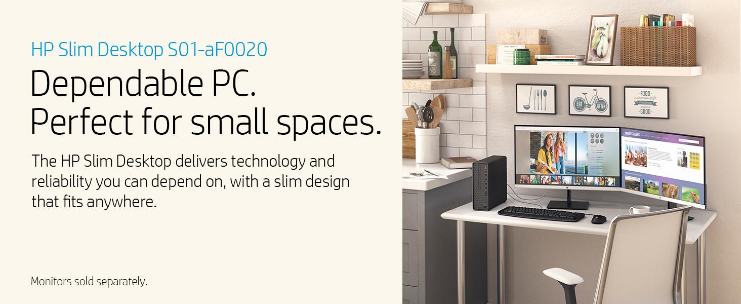 HP Slim Desktop S01-aF0020, desktop performance family reliable trusted brand protect