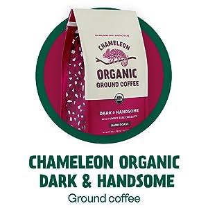 Chameleon Organic Dark amp; Handsome Ground Coffee