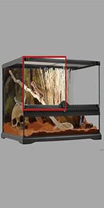 puerta de vidrio para terrario, repuesto terrario, terrario de vidrio exoterra; reptiles
