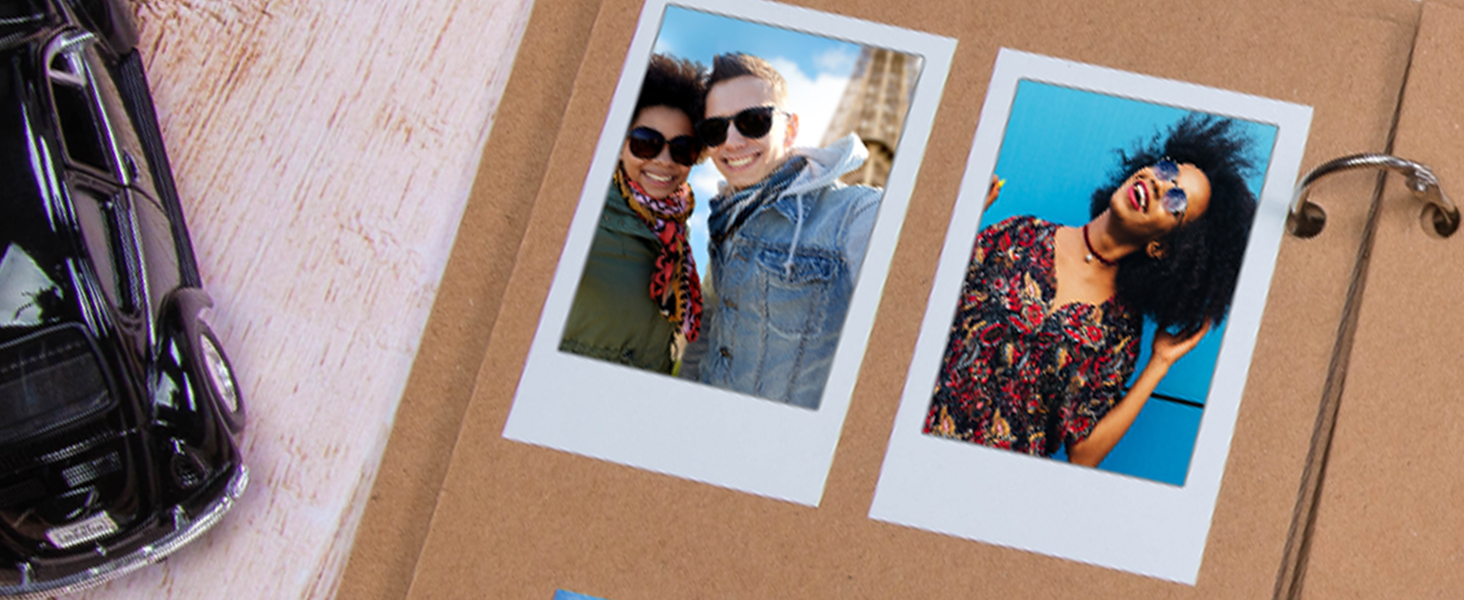 Classic Polaroid frame zink paper