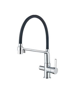 GRIFEMA G4010-2-DOVER Pulverizador de doble funci/ón 3 en 1 para purificador de filtro de agua y fregadero de cocina Cromo Grifo de cocina osmosis con ca/ño flexible