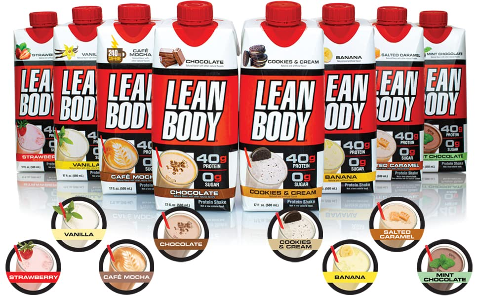 lean body ready to drink meal replacement protein shake recovery healthy weight loss