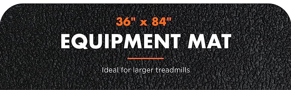 """36"""" x 84"""" fitness equipment mat, fits large treadmills"""