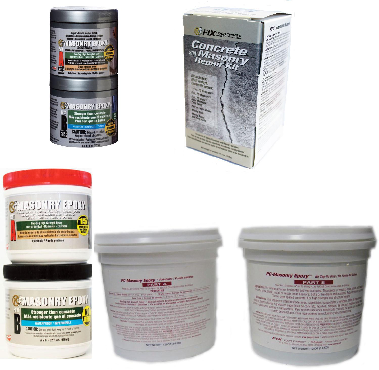 Pc Products Concrete And Masonry Repair Kit Pc Crete Pc