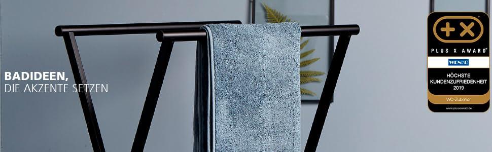 Wenko staande serie - handdoekenrek, wc-garnituren & badkamerrekken stijlvol geplaatst