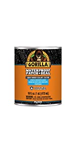 Gorilla Black Waterproof Patch & Seal Liquid, 1Pint