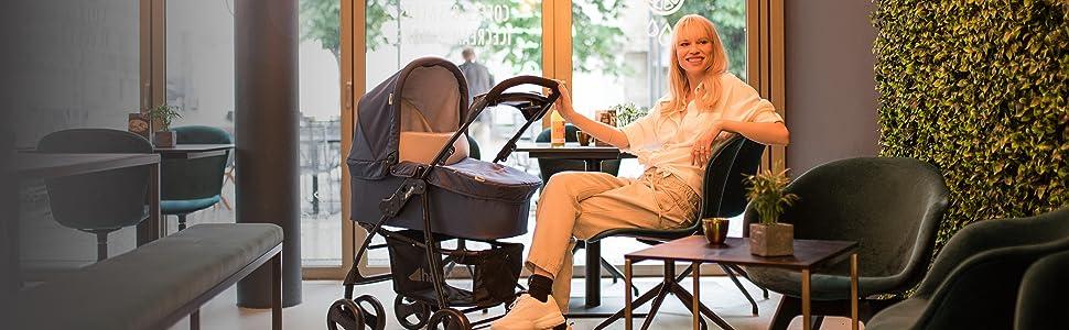 poussette Shopper SLX Trioset de Hauck de la naissance à 25 kg pour ville et campagne
