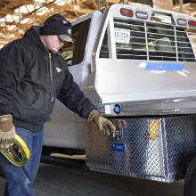 UWS Underbody Truck Tool Box Work