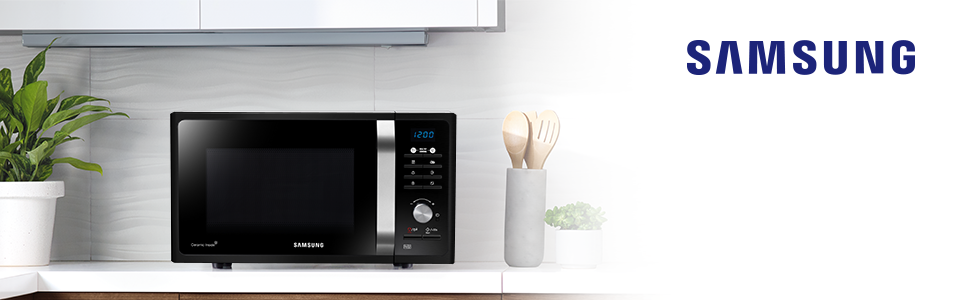 23L Solo Microwave MS23F301TAK, Enjoy perfectly cooked food with Samsung's innovative Triple Distrib