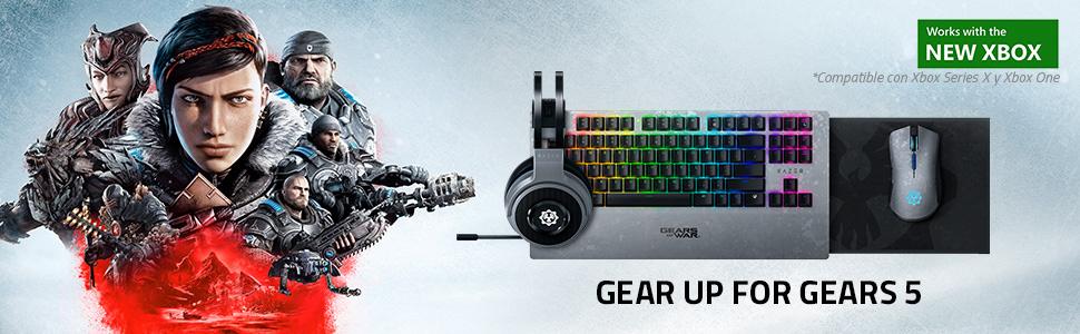 Razer Thresher Xbox One Gears of War 5 Edition Auriculares inalámbricos para juegos para Xbox One y PC , hasta 16 horas de duración de la batería, controlador de 50 mm, Windows