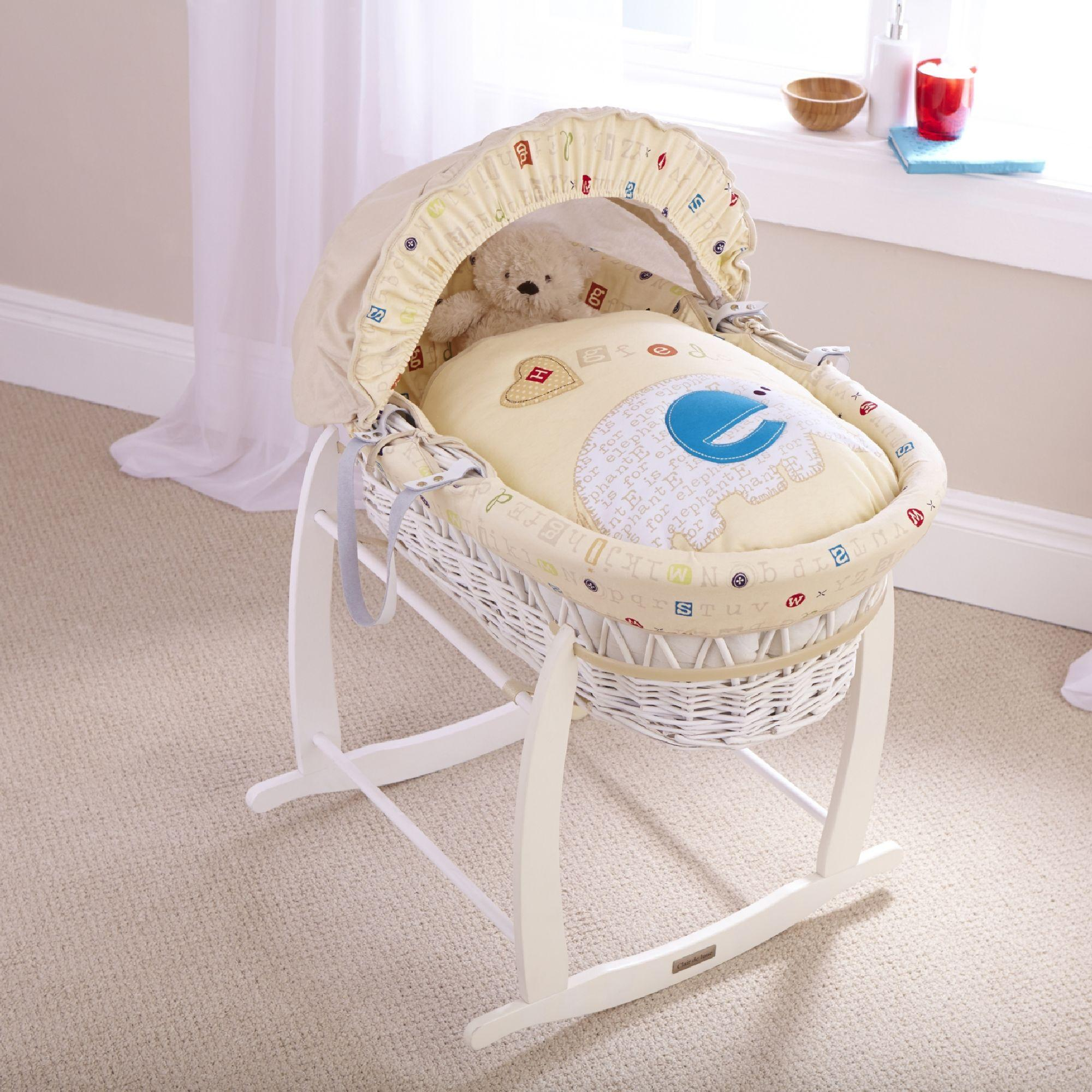 Baby Girl Moses Basket Bedding