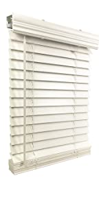 blinds, window blinds, cordless blinds, faux wood blinds, fauxwood blinds, 2-inch blind, white blind